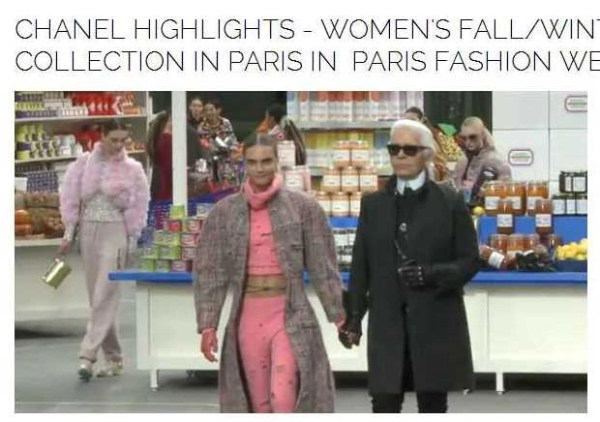 "Video!  Chanel's ""Grocery"" Runway Show Direct from Paris Fashion Week @Chanel  #ParisFashWeek"