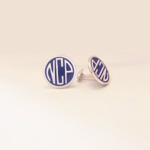 monogram cufflinks - Copy