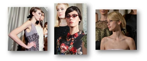 50's librarian or retro chic? Erin Fetherston's Hair Looks for Fall 2014   #SalonGrafix, #ErinFeatherston