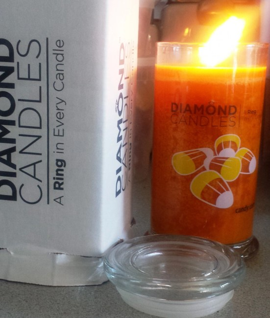Diamond Candle's Spooky Scents for Halloween Have Sparkling Rings Inside @diamondcandles, #Halloween, #DiamondCandles