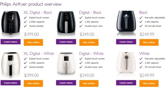 philips airfryer prices