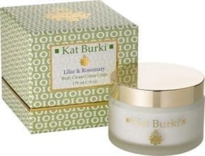 kat burki lilac and rosemary body creme
