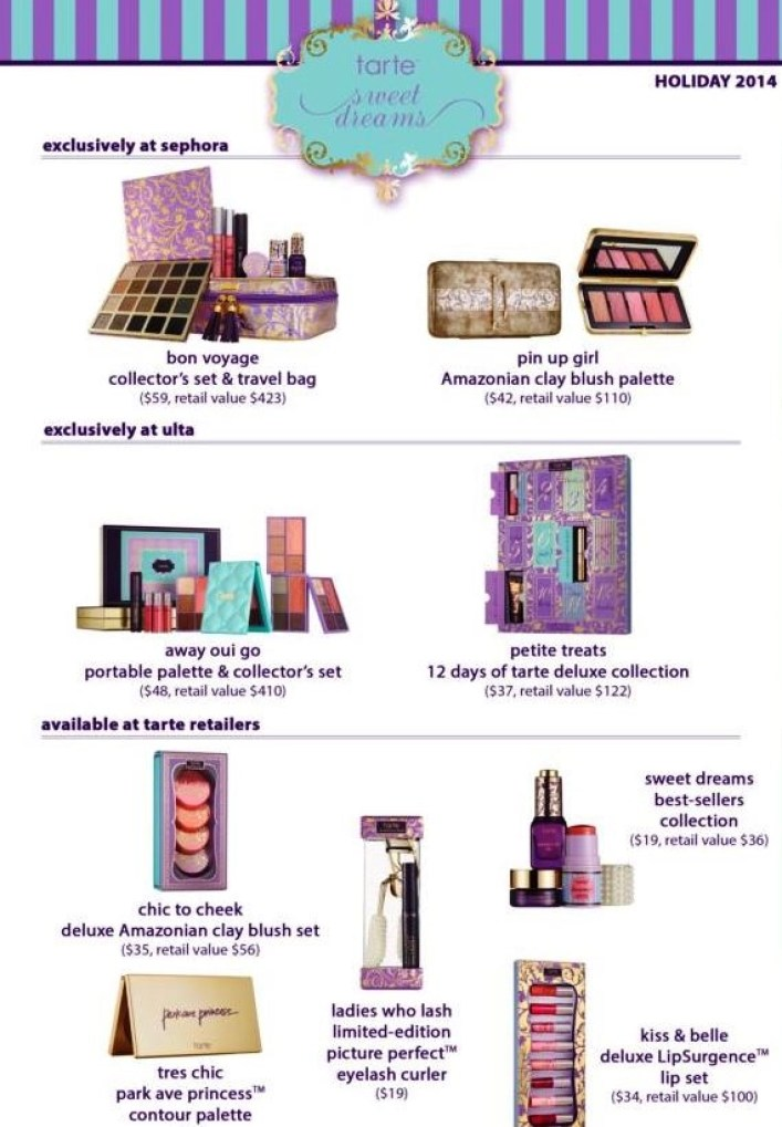 tarte holiday offerings