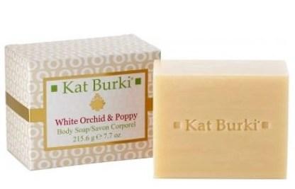 Kat Burki white orchid & poppy soap