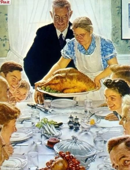 only Norman Rockwell could make this look good...your family memories may differ