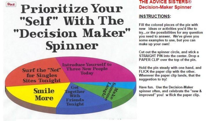 the advice sisters exclusive decision maker spinner