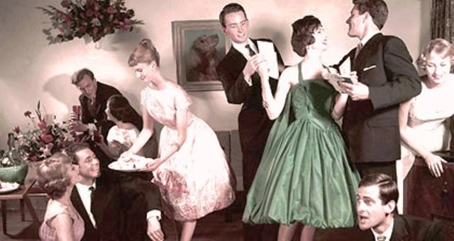 office party of the 1950s