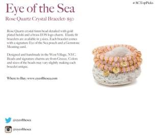 EYE OF THE SEA ROSE QUARTZ BRACELET