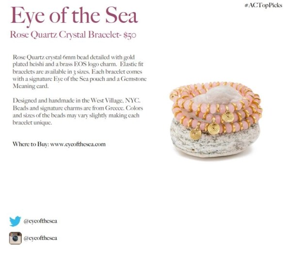 EYE OF THE SEA ROSE QUARTZ BRACELET