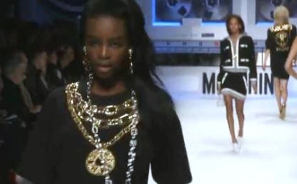 bling, bathing suits and bold colors at Moschino Milan Fashion Week