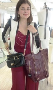 krystal kodadda with her handbags