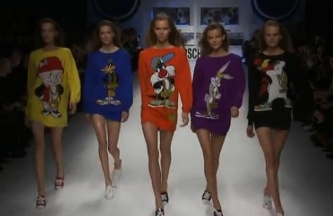 moschino brings fun to the runway