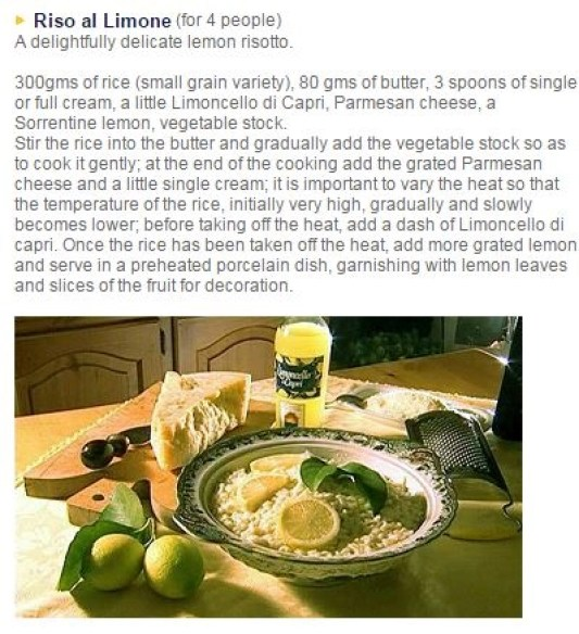 rice with limoncello