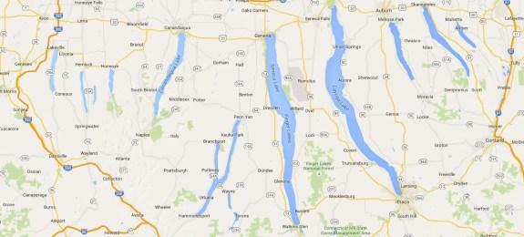 FINGER LAKES NY MAP