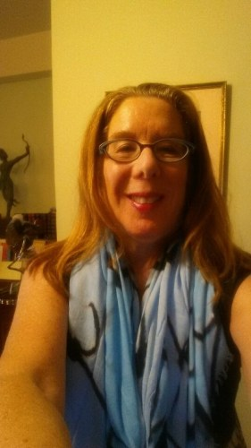 I am wearing the limited-edition scarf, designed by Sheila Johnson for Chicos
