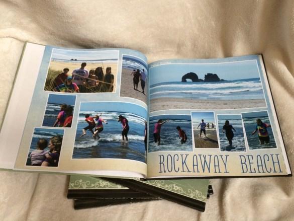 rockaway beach scrap book page