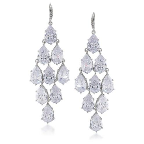 carolee waterfall cz earrings