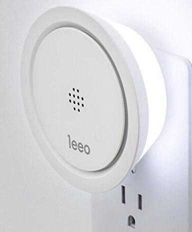 Leeo plugged into a wall socket