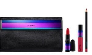 mac enchanted eve lip bag in red holiday