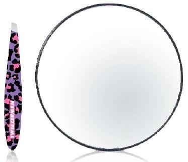 tweezerman leopard mirror and tweezer duo