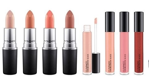 mac lineup of lip products for faerie whispers