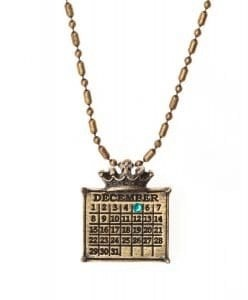 """gold """"Your Special Day"""" Crown Calendar Charm (Ball Chain Included)"""