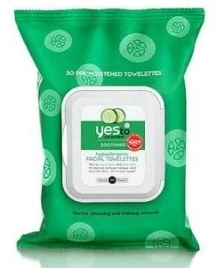 yes to cucumbers facial cleansing wipes
