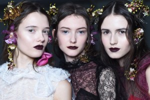 James Kaliardos from NARS creates beauty look of deep contrast for Rodarte  #NYFW, #Rodarte
