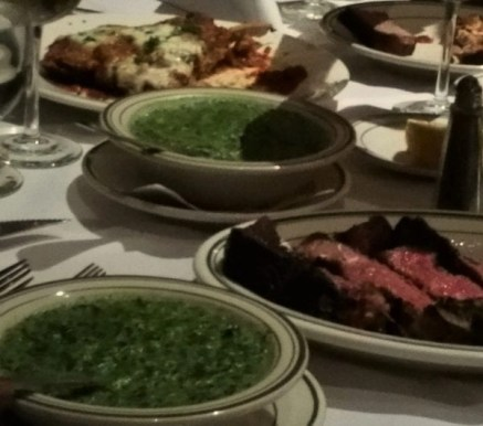 steak and creamed spinach