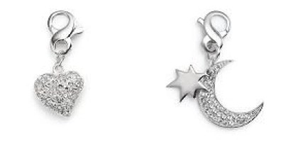 carolee heart and moon charms