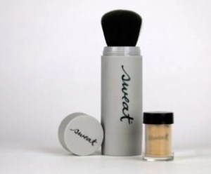 sweat cosmetics with brush