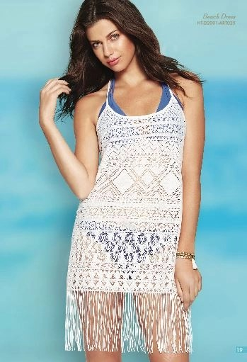 white lace cover up by Hawaiian Tropic