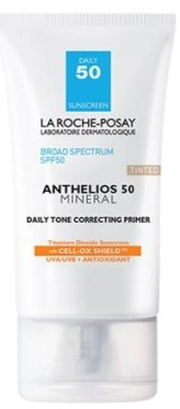 anthelios 50 mineral daily tone correcting tinted primer by La Roche-Posay skincare sun protection physical sunblock sunscreen