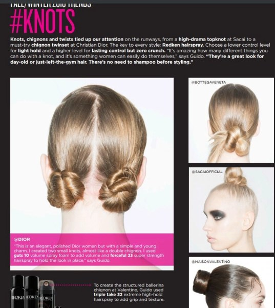 fall 2016 hair trends, knots