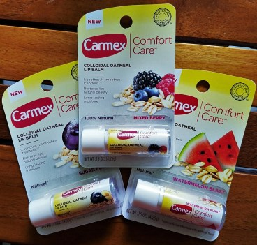 carmex comfort care colloidal oatmeal lip balm trio