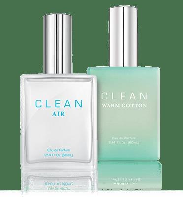 clean air and warm cotton fragrances