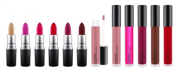 MAC Cosmetics Its a Strike Makeup Collection lipsticks and lip glosses