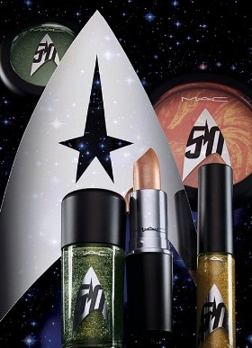 MAC Cosmetics with the 50 star trek logo