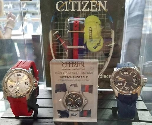 this is a photo we took of the actual US Open watches from the Citizen Box at the US Open