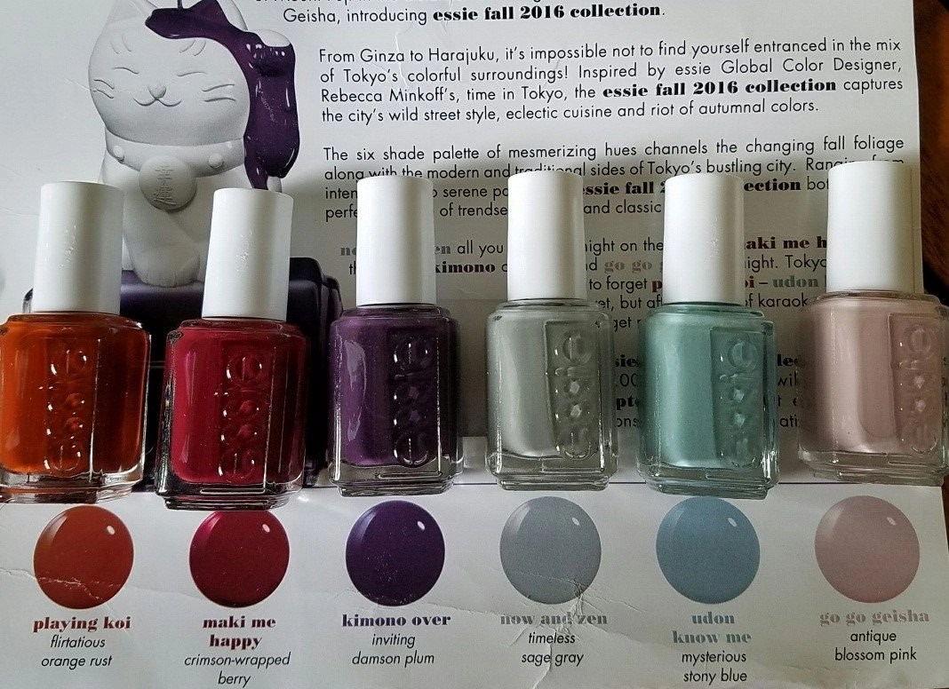 Review: essie fall for japanese if you please nail polish collection
