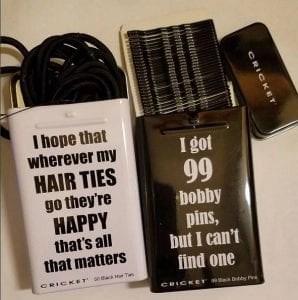 Cricket hair ties