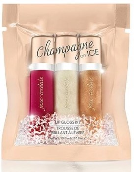 jane irdedale champagne on ice mini lip gloss set
