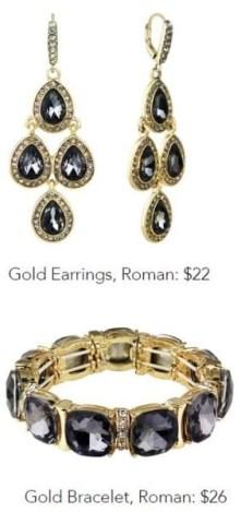 roman and sunstone bracelet and earrings