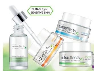 nutraeffects skincare by avon poster