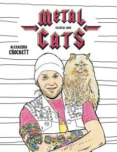 coloring book metal cats