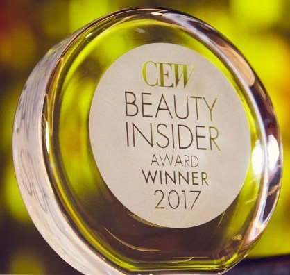 a look at the coveted CEW 2017 Insider Beauty Award