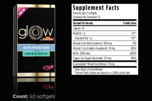 glow by nature made skin moisture hair & nails