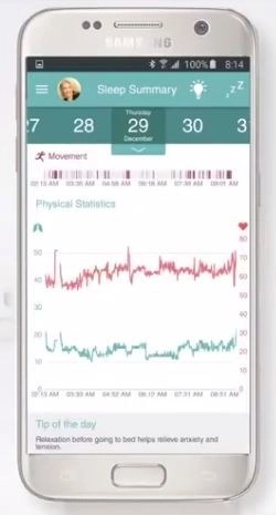 live by early sense summary heartbeat breathning activity
