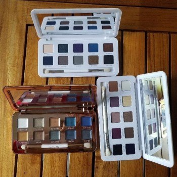 models own eye shadow palettes shown open