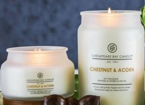 chesapeake bay candle chestnot amd acorn
